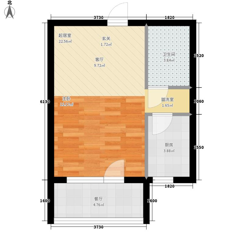 天鸿展视界39.82㎡天鸿·展世界22#楼3982m2户型1室2厅