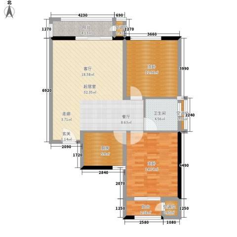 泰和小区2室0厅1卫1厨85.00㎡户型图