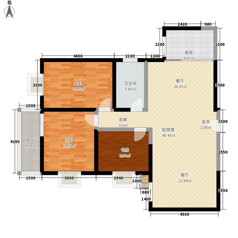 迎泽公寓122.00㎡1面积12200m户型