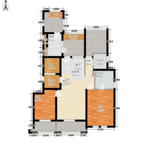 万科信成道2室0厅2卫1厨135.00㎡户型图