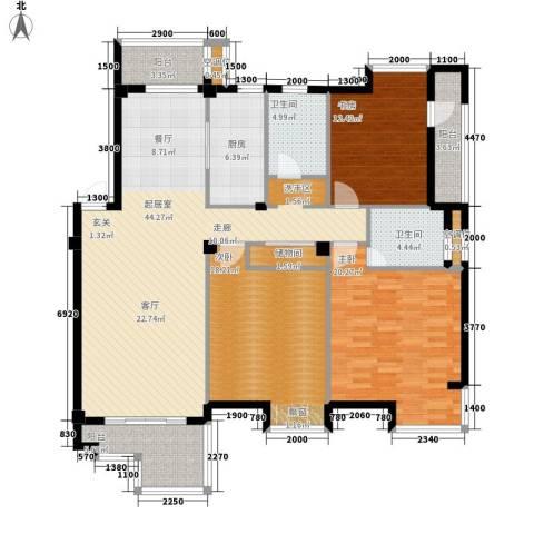 桂林奥林匹克花园3室0厅2卫1厨140.00㎡户型图