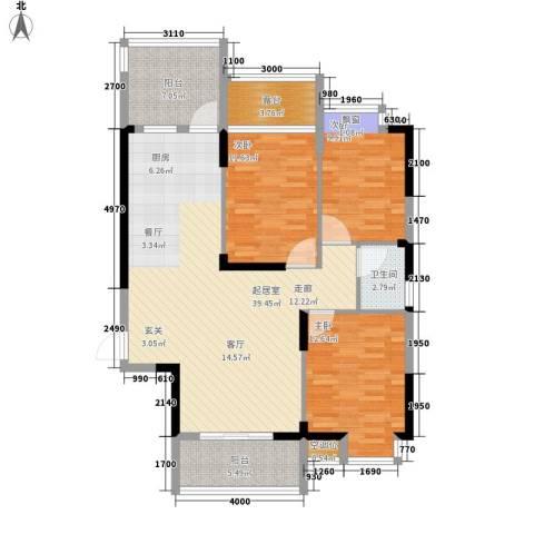 桂林奥林匹克花园3室0厅1卫0厨115.00㎡户型图