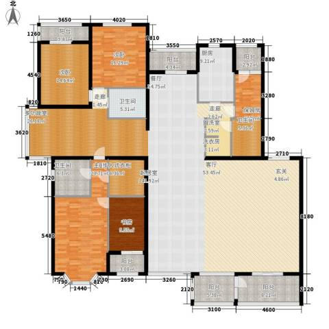 金洋华城4室0厅3卫1厨341.00㎡户型图