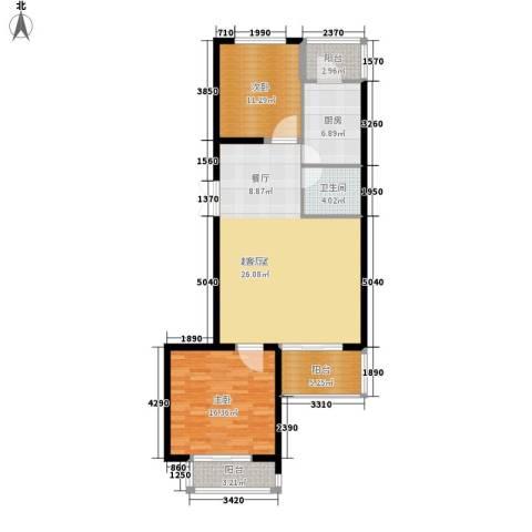 金源经典2室0厅1卫1厨96.00㎡户型图