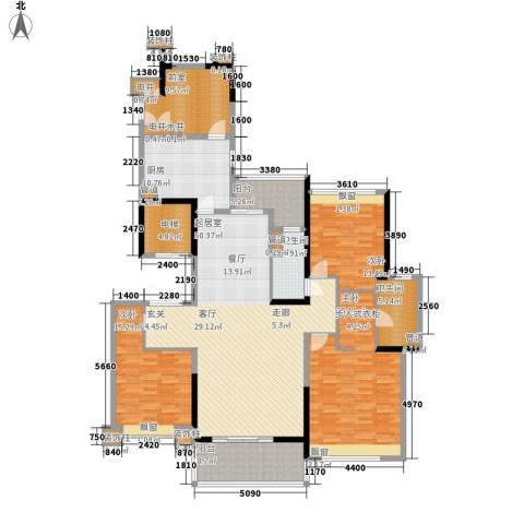 保利云禧3室0厅2卫1厨161.00㎡户型图