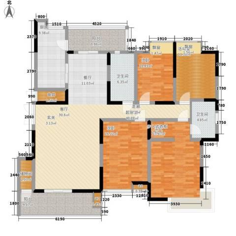 大唐通善坊3室0厅2卫1厨188.00㎡户型图