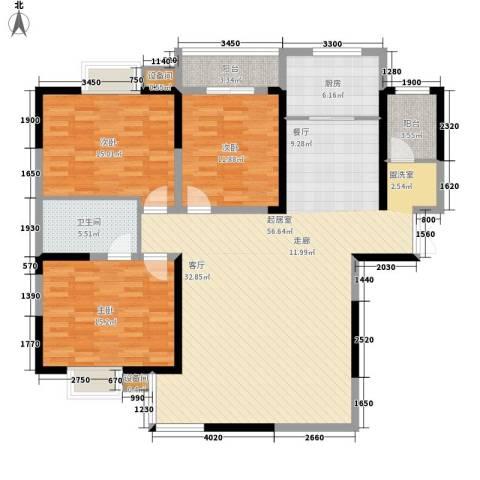 金桥太阳岛3室0厅1卫1厨135.00㎡户型图