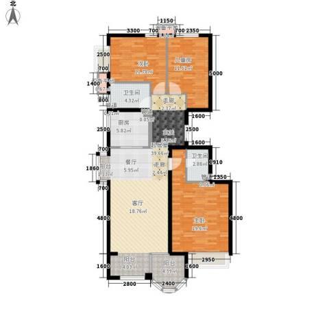 鹭港小区3室0厅2卫1厨143.00㎡户型图