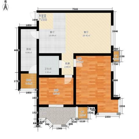 卡玛国际花园2室0厅1卫1厨94.00㎡户型图
