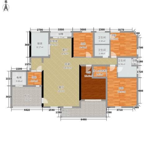 白沙世纪佳园5室0厅3卫1厨169.00㎡户型图
