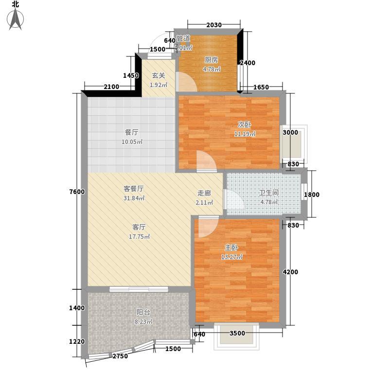 汉口中心嘉园94.89㎡B31面积9489m户型
