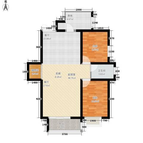 金源经典2室0厅1卫1厨107.00㎡户型图