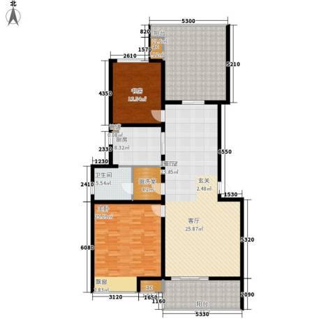 伟业都市远景2室0厅1卫1厨155.00㎡户型图