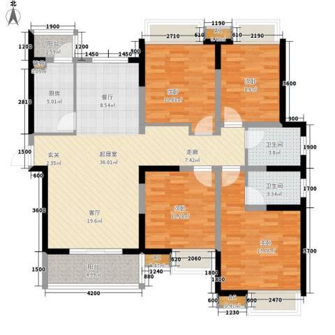 金桥四季花园4室0厅2卫1厨139.00㎡户型图