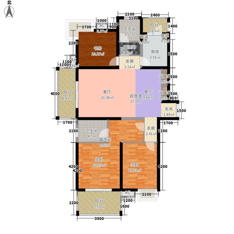 曲江观邸153.00㎡31#A(售罄面积15300m户型