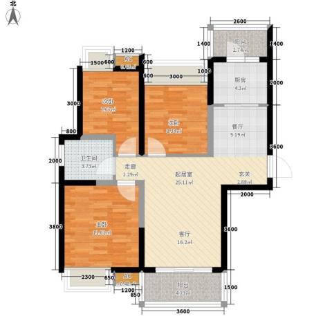 金桥四季花园3室0厅1卫1厨98.00㎡户型图