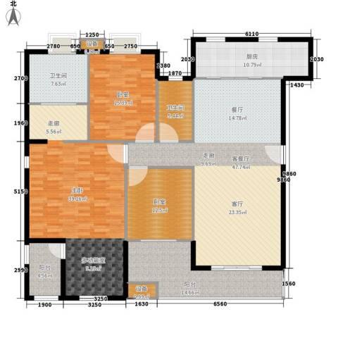 绿湖豪城1室1厅2卫1厨175.00㎡户型图