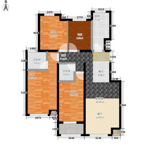 东城景苑4室0厅2卫1厨153.00㎡户型图