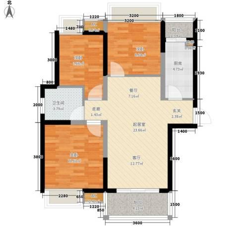 金桥四季花园3室0厅1卫1厨94.00㎡户型图