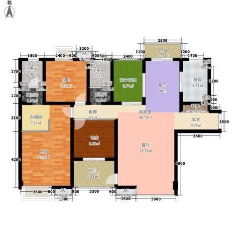 曲江观邸3室0厅2卫1厨153.00㎡户型图