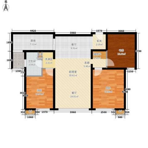 和乐家园3室0厅1卫1厨94.00㎡户型图