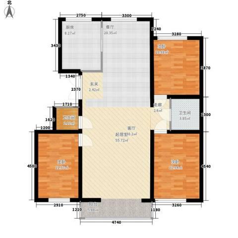 盛泰雅园3室0厅2卫1厨143.00㎡户型图