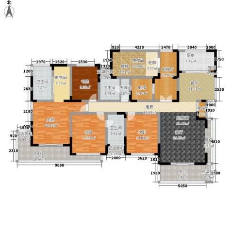 新港天都花园4室0厅3卫1厨196.59㎡户型图