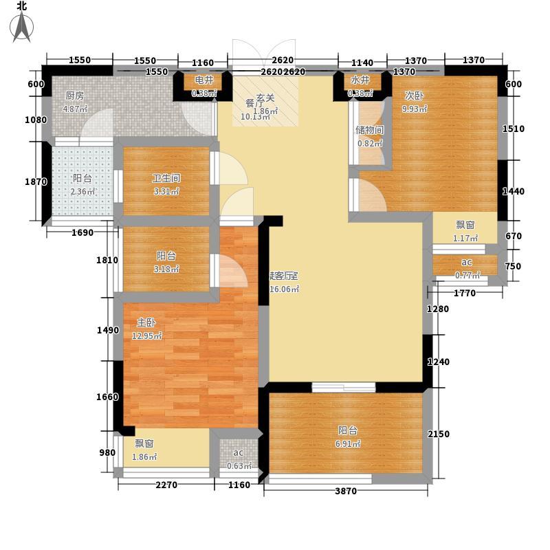 明发国际新城85.00㎡17#户型2室2厅