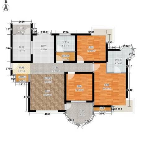 天佑越界3室0厅2卫1厨178.00㎡户型图