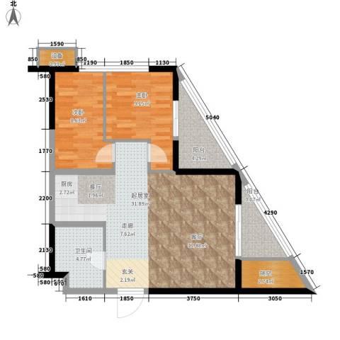 天佑越界2室0厅1卫0厨94.00㎡户型图