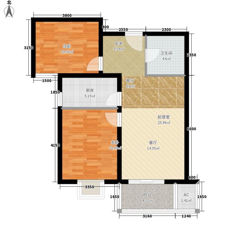 西安首创国际城/首创漫香郡11/12/13/16#楼B标准层户型