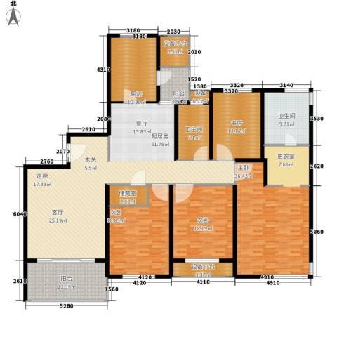 名湖花园4室0厅2卫1厨227.00㎡户型图
