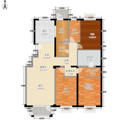 亚运新新家园4室1厅2卫1厨190.00㎡户型图