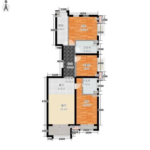 鹭港小区3室0厅2卫1厨129.00㎡户型图