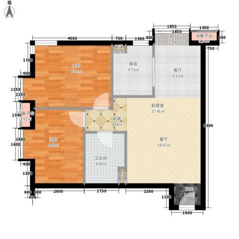 鹭港小区2室0厅1卫1厨85.00㎡户型图