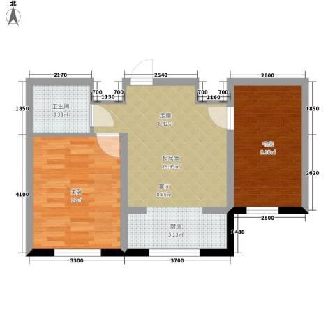 丰和西郡2室0厅1卫0厨65.00㎡户型图