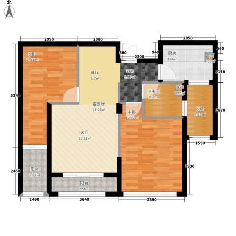 万联凤凰城2室1厅1卫1厨80.00㎡户型图