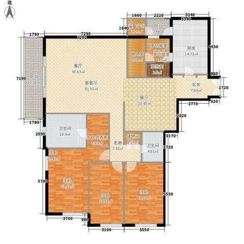 世茂宫园3室1厅2卫1厨276.00㎡户型图