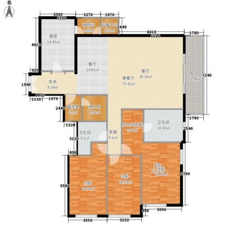世茂宫园3室1厅2卫1厨262.00㎡户型图