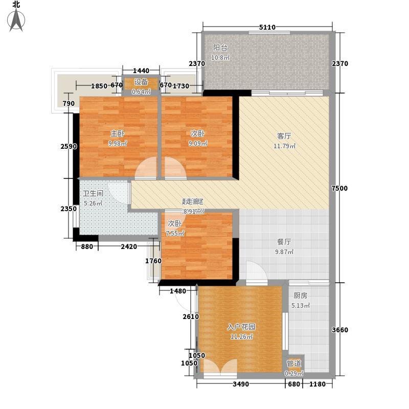 翠城花园104.78㎡21栋4层05单元面积10478m户型