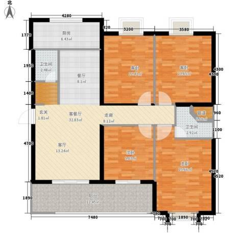 罗马西西里4室1厅2卫1厨151.00㎡户型图