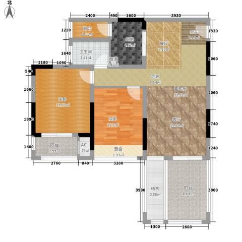 首信皇冠假日2室1厅1卫1厨89.00㎡户型图