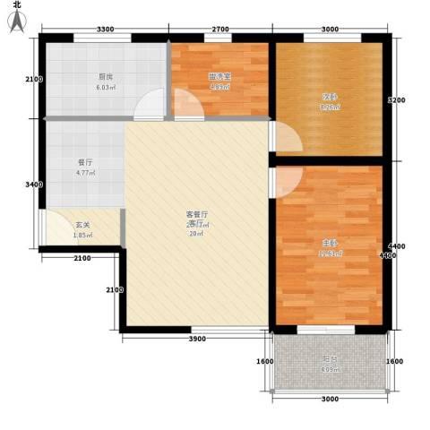 丽馨园2室1厅0卫1厨86.00㎡户型图