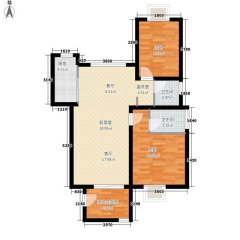 金玉华庭2室0厅2卫1厨94.00㎡户型图