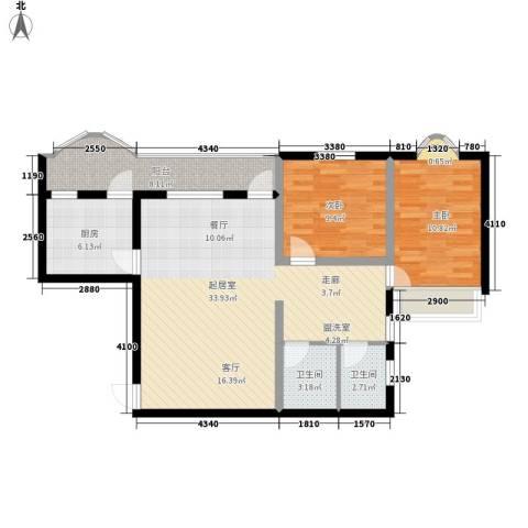 金玉华庭2室0厅2卫1厨106.00㎡户型图
