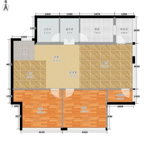 银座晶都国际2室0厅1卫1厨123.00㎡户型图