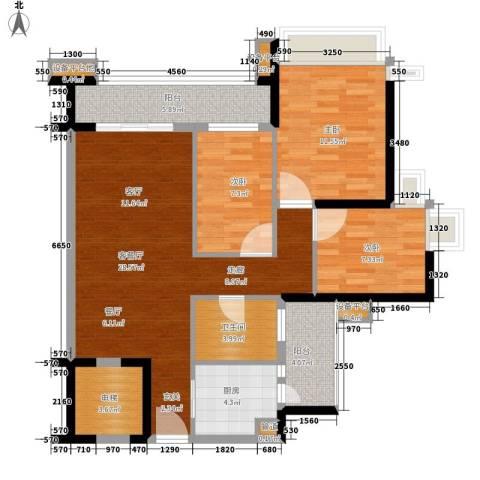 雅居乐海南清水湾3室1厅1卫1厨101.00㎡户型图