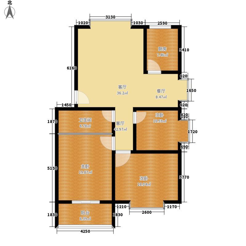 舜馨佳园123.00㎡3居室面积12300m户型