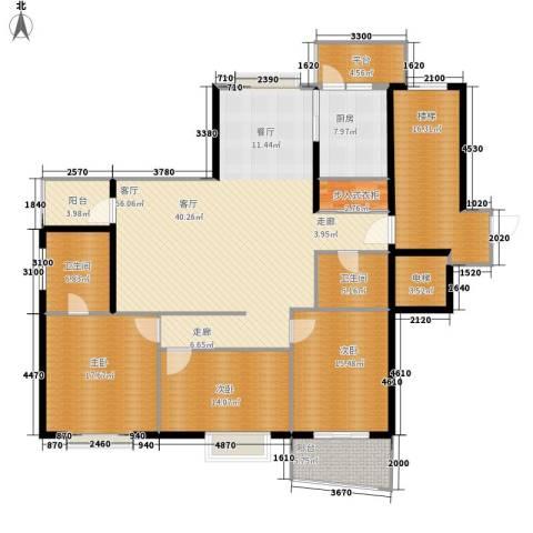 盈峰翠邸3室1厅2卫1厨177.00㎡户型图