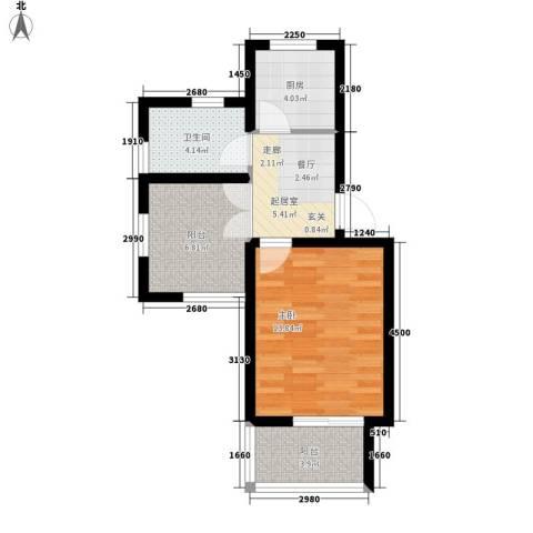 虎阜花园1室0厅1卫1厨56.00㎡户型图